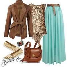 Love the shoes, love the skirt.  Brown Winter 2013 Outfits for Women by Stylish Eve