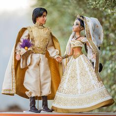 "Aladdin and Jasmine Limited Edition 17"" Wedding Doll Set (Limited Edition of 250) $750"