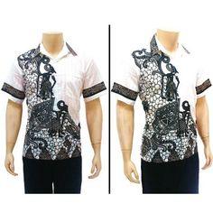 Hem batik pria modern yang terbuat dari bahan katun halus yang biasanya dipakai untuk kemeja batik pria modern untuk pergi ke acara resmi atau ke kekantor