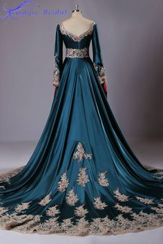 Estilo árabe vestidos de noche largo MuslimLong manga del vestido de noche de Dubai Kaftan marroquí caftán Abaya en Dubai en Vestidos de Noche de Bodas y Eventos en AliExpress.com | Alibaba Group