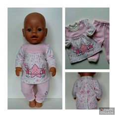 Baby Born clothes. In a set of 2 pcs. Decorated with stickers. 100% cotton Doll is not included.