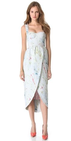 alice + olivia Puff Tulip Skirt Gown - must have dress for spring!!