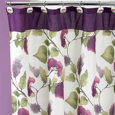 Shop for Beautiful Water Color Style Painted Lilac Shower Curtain and Hooks Set or Separates . Free Shipping on orders over $45 at Overstock.com - Your Online Bath & Towels Outlet Store! Get 5% in rewards with Club O! - 17481759