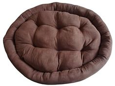 Huge Extra Rommy Pet Bed - 42', Brown - Micro-Velvet Donut-type for Cat, Dog, Pet *** Read more reviews of the product by visiting the link on the image.