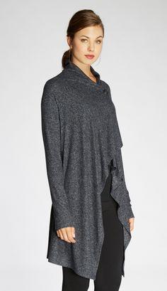 Mid Length  Asymmetrical Cardigan
