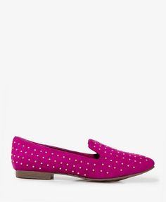 Studded Faux Suede Loafers | FOREVER 21 - 2021178123. Not really my style, but I think these are fun.