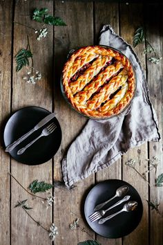 rhubarb pie (with a braided crust) — the farmer's daughter