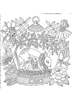 Cute Coloring Pages, Animal Coloring Pages, Coloring Sheets, Adult Coloring, Coloring Books, Diy Y Manualidades, Freelance Illustrator, Drawing People, Fairy Tales