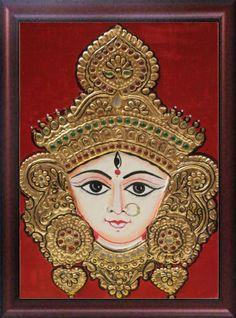 Maa Durga Tanjore PAinting........