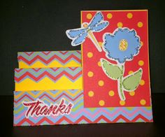 """Jinger Adams Staircase Card using the """"All Occasion Card Kit"""""""