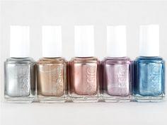 Essie metallic nail polish colors for summer. I love them!