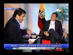 RAFAEL CORREA REVUELCA A PERIODISTA DE DERECHA SOBRE VENEZUELA Y ARGENTINA