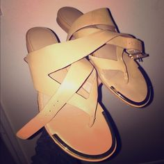 Calvin Klein nude sandals Super cute CK sandals only worn once really comfortable and super elegant Calvin Klein Shoes Sandals