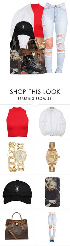 """I Need To Hit The Gym Now"" by nasiaamiraaa ❤ liked on Polyvore featuring Forever New, Rolex, October's Very Own, MICHAEL Michael Kors, NIKE, women's clothing, women, female, woman and misses"