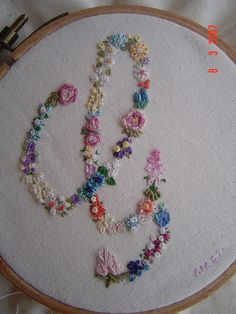 flower embroidery - step into my garden by ebbandflo_pomomama, via Flickr