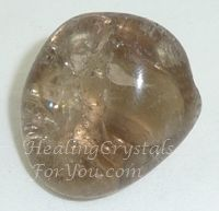 Smokey Quartz: A premier anchoring & grounding stone. These stones are strongly protective & are excellent stones to keep within our aura at all times.  If you are a spiritual worker such as a clairvoyant, you may take advantage of this stones ability as a stone of psychic protection, to both protect you from negativity & transmute the energy by grounding it back down into the earth.