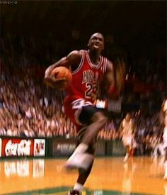 Michael Jordan's cradle it Dunk. GIF Creation! - http://nbafunnymeme.com/nba-gif-2/michael-jordans-cradle-it-dunk-gif-creation