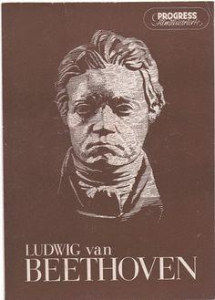 """Progress Filmillustrierte  """"Ludwig van Beethoven  Ausgabe 41/54  Echte Film-Rarität!   Doppeltes Faltblatt mit zahlreichen Abbildungen     Original-Br"""