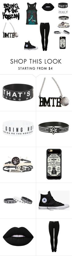 """""""Bring Me The Horizon"""" by demonlover2002 on Polyvore featuring Converse, Lime Crime and MM6 Maison Margiela"""