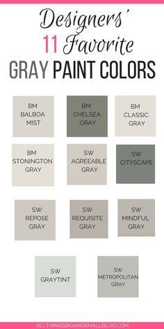 Best 11 Need the best gray paint colors? These light gray paint colors are the best gray paint colors sherwin williams and benjamin moore! Plus see gray paints compared including stonington gray, revere pewter, edgecomb gray, classic gray and more! Neutral Gray Paint, Light Grey Paint Colors, Best Gray Paint Color, Light Gray Walls, Gray Wall Colors, Best Neutral Paint Colors, Greige Paint Colors, Shades Of Grey Paint, Grey Walls