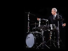 Charlie Watts. Just as important to the Rolling Stones sound as Mick and Keith.
