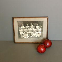 1932 Original Cricket Photograph Framed in a Wood Frame Vintage Cricket Photograph - Vintage Sports Photo by FanshaweBlaine on Etsy