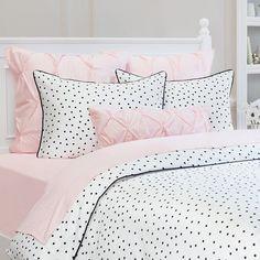 New Ideas Painting Bedroom Set White Duvet Covers Black Duvet Cover, White Duvet Covers, Bed Duvet Covers, Duvet Sets, Chic Bedding, Pink Bedding, Luxury Bedding, Bedding Decor, Neutral Bedding