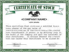 stock certificate templates 13 free word pdf formats - Stock Certificate Template Word