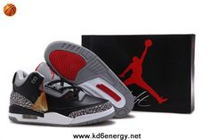 New Air Jordan 3 III Black Cement