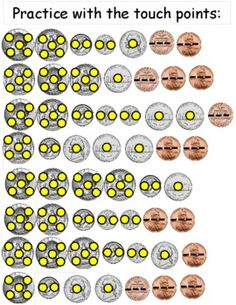 Math Coin Touch Points by The Groovy Grandma Touch Math, Touch Point Math, Teaching Money, Teaching Math, Kindergarten Math, Math Classroom, Classroom Ideas, Homeschool Math, Homeschooling