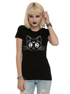 Sailor Moon Luna Head Girls T-Shirt,