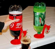 8- FIND LINKS TO REALLY AWESOME THINGS- coca cola drink dispenser