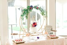 Make your dessert table extra sweet with our gold cake ring! www.a1wedding.com 903-463-7709