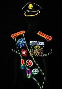 Lighted Military Costume, #military, #lighted, #costume
