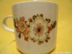 Mug with flowers, Alföldi porcelán, Hungary Hungary, Retro Vintage, Cups, Glasses, Tableware, Flowers, Eyewear, Mugs, Eyeglasses