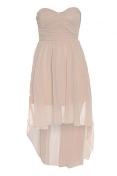 Nude Drop Back Chiffon Rouche Front Dress- Bridesmaid's/Maid of Honor dress?