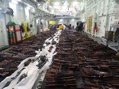 Several hundreds of AK47 assault rifles, sniper rifles, machine guns and RPGs…