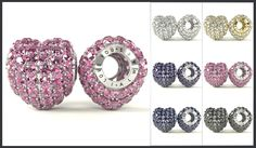 Heart Crystal Bead visualization for Crystarella collection – with Swarovski elements.