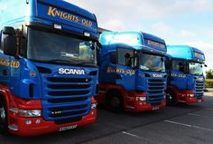 A trio of our Scania cabs at Bridgwater Truckstop.