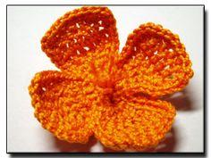 CROCHET PATTERNS (Crochet Flower Pattern #140 California Poppy) -Crochet & Knit Design Heaven