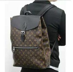 5d04a1aace6e Louis Vuitton Monogram Macassar Canvas Palk Backpack M40637 Handbags For  Men