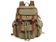 Outdoor Casual Fashion Canvas Student School #canvasbackpack #backtoschool