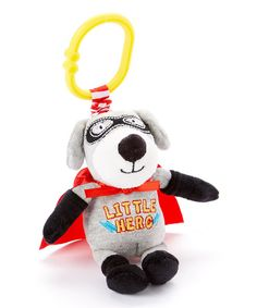 Look at this Baby Starters Gray Little Hero Dog Pull Toy & Rattle on #zulily today!