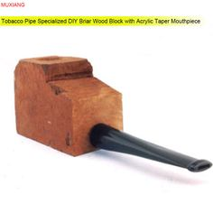 MUXIANG Pipe Specialized Briar Wood Block with Acrylic Taper Nozzle DIY Crafts for Pipe Making Men Companion China Sale aa0001 #Affiliate