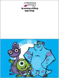 {Free} Printable Card, Monsters Inc, Invitations