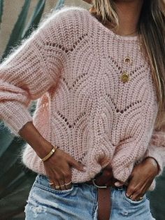 Round Neck Cutout Crochet Plain Sweaters - - Source by Winter Skirt Outfit, Skirt Outfits, Winter Outfits, Casual Outfits, Casual Sweaters, Winter Sweaters, Women's Sweaters, Pullover Sweaters, Oversized Sweaters