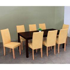 Warehouse of Tiffany Shino Mustard 9-piece Dining Set