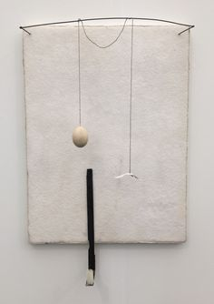 FRIEZE ART Fair 5/2016 -  Pier Paolo Clazolari, Untitled, 1990. Salt, flannel, copper, cotton yarn, egg, burnt wood, iron, paper, candle, and lead. Marianne Boesky Gallery.