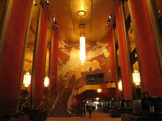 Radio City Music Hall, NYC, NY.  Architect: Edward Durell Stone.   Interior Designer: Donald Deskey  1932