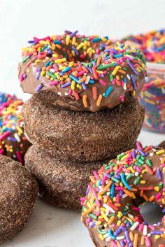 PERFECT BAKED CHOCOLATE DONUTS {GLAZED  CHURRO}Really nice  Mein Blog: Alles rund um Genuss & Geschmack  Kochen Backen Braten Vorspeisen Mains & Desserts!